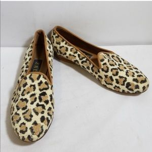 Needlepoint Leopard Loafers